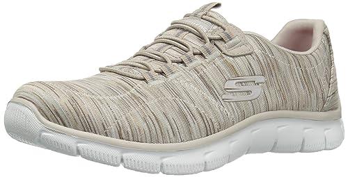 Skechers Gratis-Chic Craze, Zapatillas sin Cordones para Mujer, Beige (Natural), 35 EU