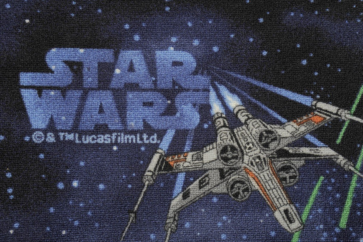 havatex Original License Kids Rug Star Wars Colour:Blue Beautyfull Play Mat for Childrens Room Girls Boys Playroom Tested Quality Easy-Care and Very Durable Size:60 x 120 cm