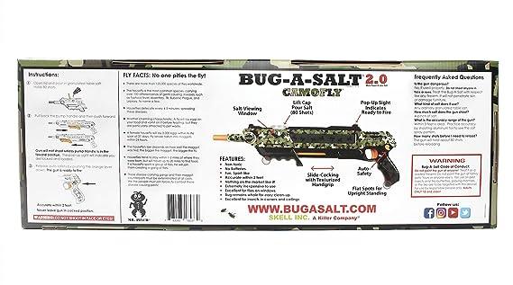 amazon com bug a salt camofly 2 0 insect eradication gun garden