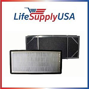 LifeSupplyUSA 4 Pack Replacement Filter for Honeywell HHT-011 Air Purifier Filter Kit Also Fits 16200 16216 Desktop Air Purifier Part # HRF-B2C (HRFB2C), 3811-350, 16216, 30LB1620XB2, HRF-C1