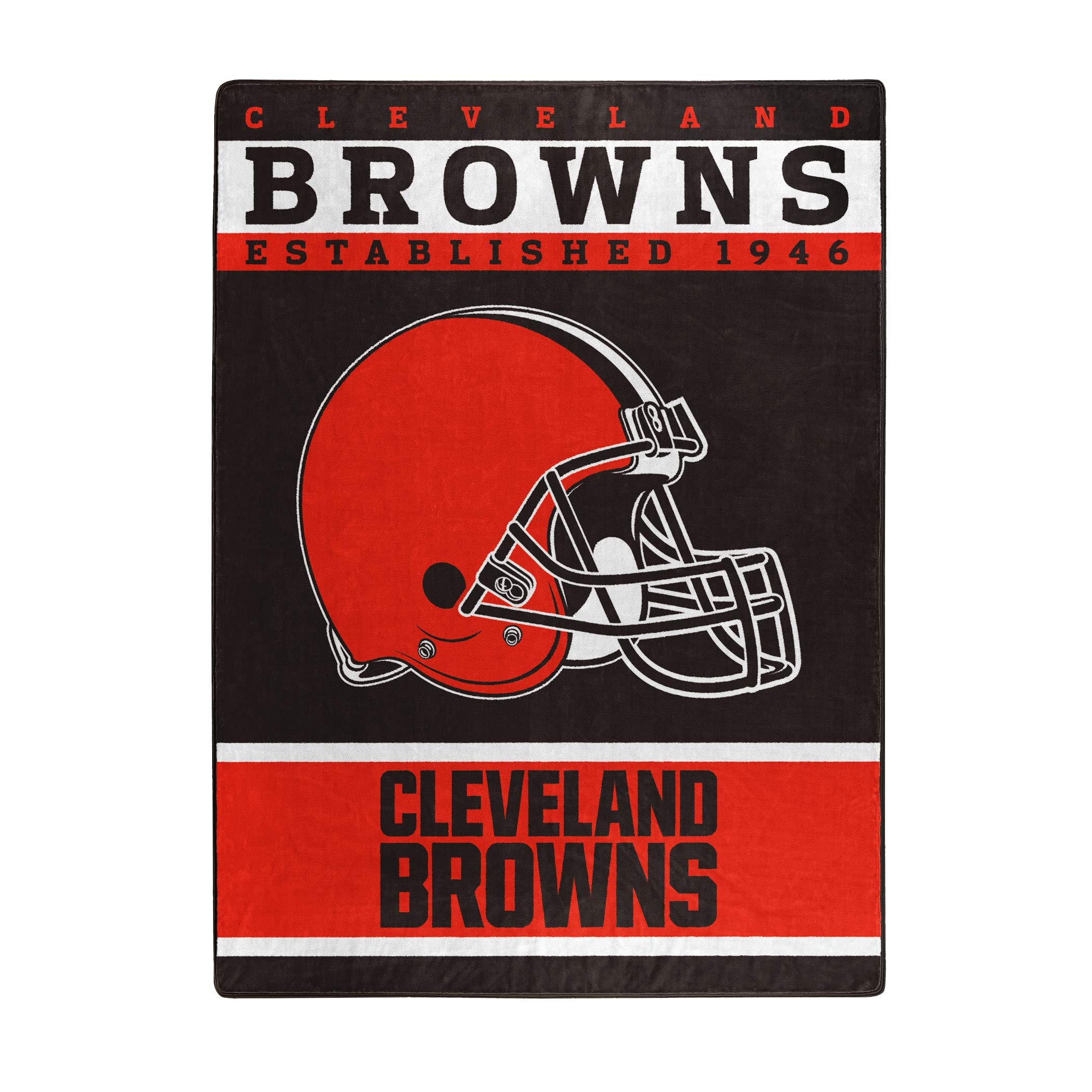 The Northwest Company Officially Licensed NFL Cleveland Browns 12th Man Plush Raschel Throw Blanket, 60'' x 80''