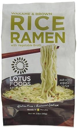 Fideos de arroz para ramen con sopa de miso de Lotus Foods ...