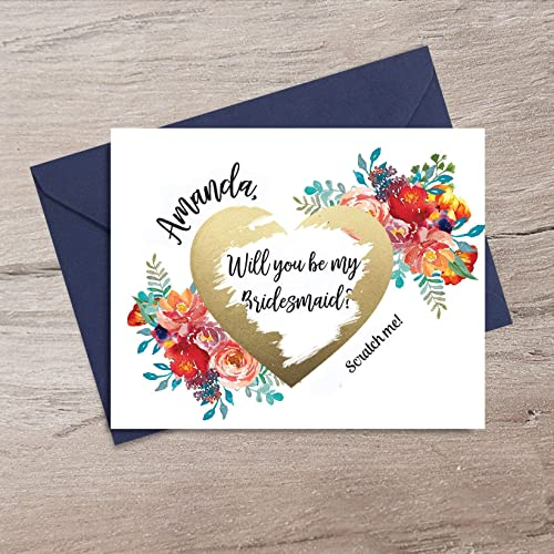 Will You Be My Bridesmaid Proposal Scratch Card