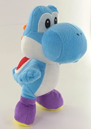 Super Mario Peluche Yoshi Azul 24 cm