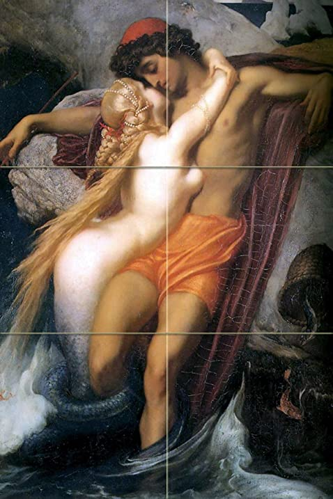 Erotic ceramic tile mural