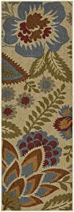 Mohawk Home Soho Crewel Floral Spice Rug, 1'8x5'