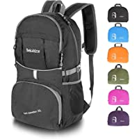 Bekahizar 35L Lightweight Backpack Foldable Hiking Rucksack Water Resistant Travel Daypack Bag for Men and Women Outdoor Camping Cycling Traveling Trekking Day Trips
