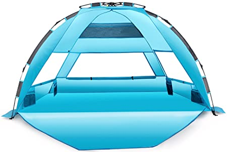 Arcshell Premium Extra Large Pop Up Beach Tent UPF 50