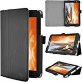 IVSO Slim-Book Stand Cover Case for Lenovo IdeaTab A8-50 8-Inch Tablet (Black)