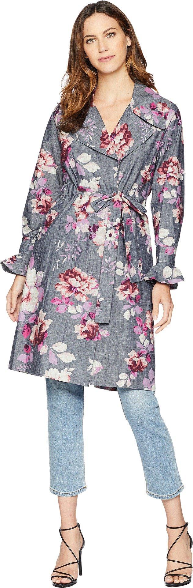 Jill Jill Stuart Women's Nina Coat Rose Print X-Small