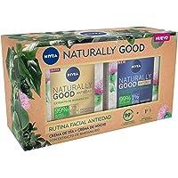 NIVEA Pack Naturally Good Rutina Facial Antiedad, Caja De Regalo Con Crema Reafirmante De Día ( X 50 Ml) Y Crema De…