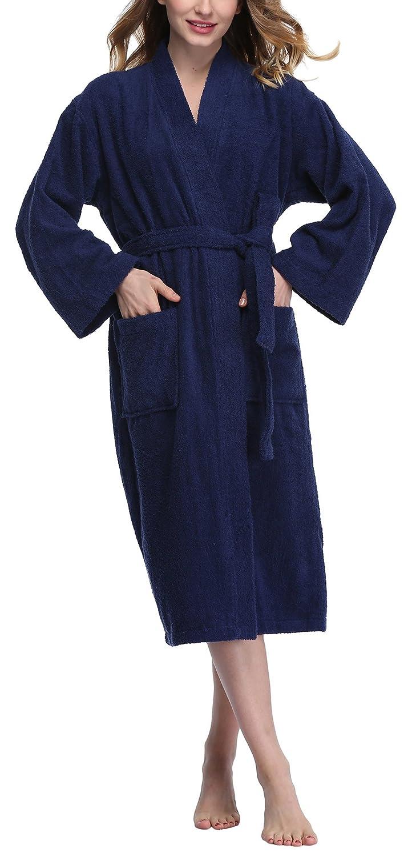 cdffc55bbf ABC-STAR Women s Turkish Lightweight Bathrobe Cotton Terry Spa Robe  Sleepwear at Amazon Women s Clothing store