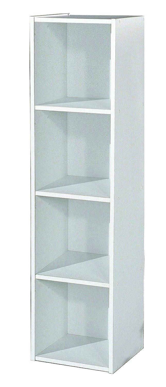 Alsapan Compo 4 x 1 Cube with Melamine, 122.3 x 31 x 29.5 cm, White Finish Compo 14