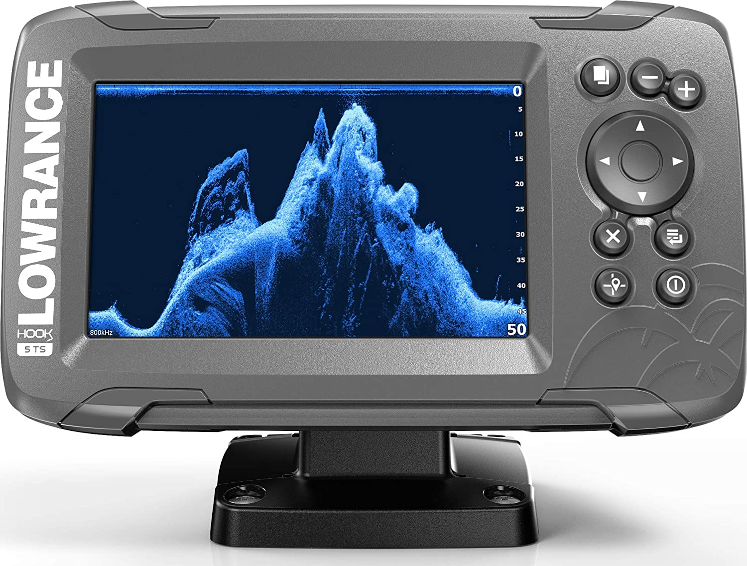 Lowrance HOOK2 5 - 5-inch Fish Finder with TripleShot Transducer and US Inland Lake Maps Installed …