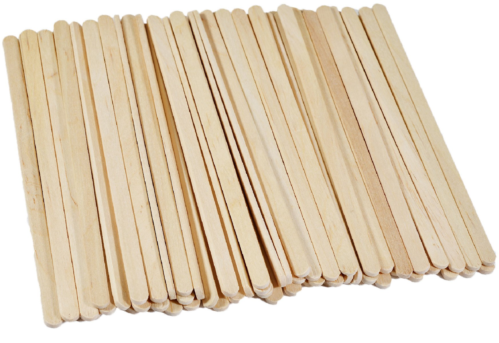 Disposable Birchwood Wooden Coffee Stir Sticks Stirrers Wood Tea Beverage Stir Stick Stirrer,5.5 Inch Length,0.25 Inch Width,500 Pcs (500)