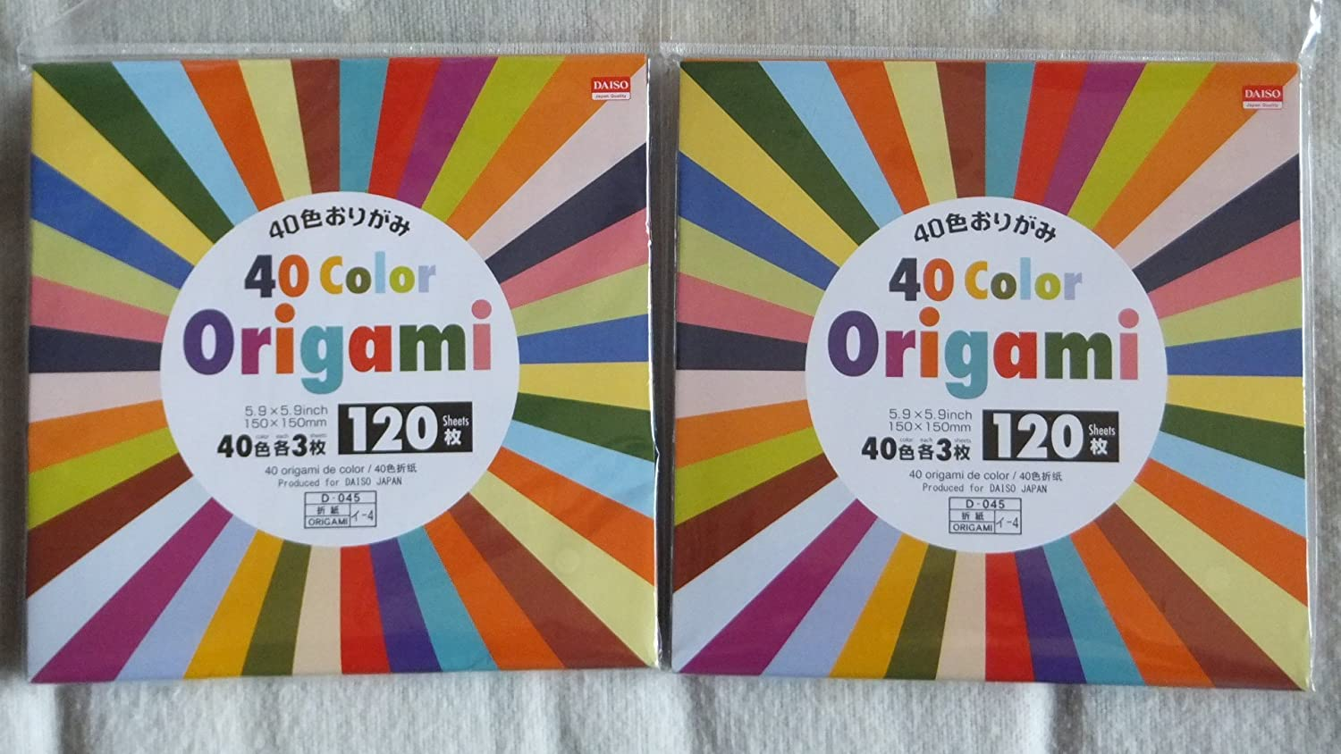120 Sheets 40 Color Origami