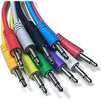 Eurorack Patch Cables - Juego de 5 cables de conexión mono de 3,5 mm para uso con sintetizadores modulares (10 colores/7…