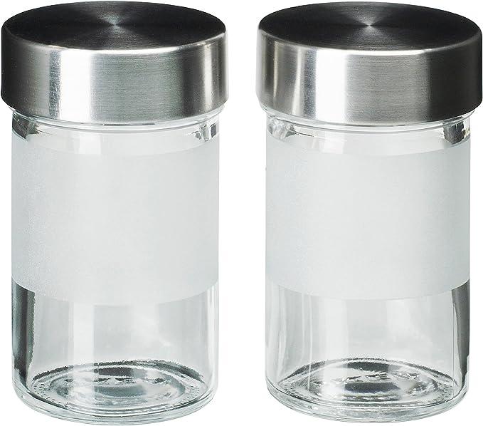 Ikea Especias Cristal droppar Juego de 10 Unidades, Cristal Acero Inoxidable