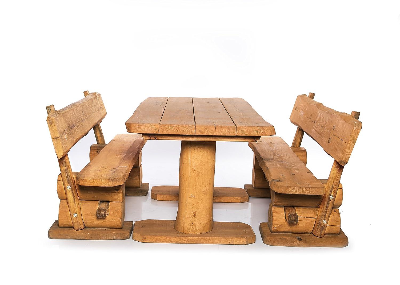 Massive rustikale Sitzgarnitur 2m - Gartengarnitur - Aus heimischer Kiefer - Unikat