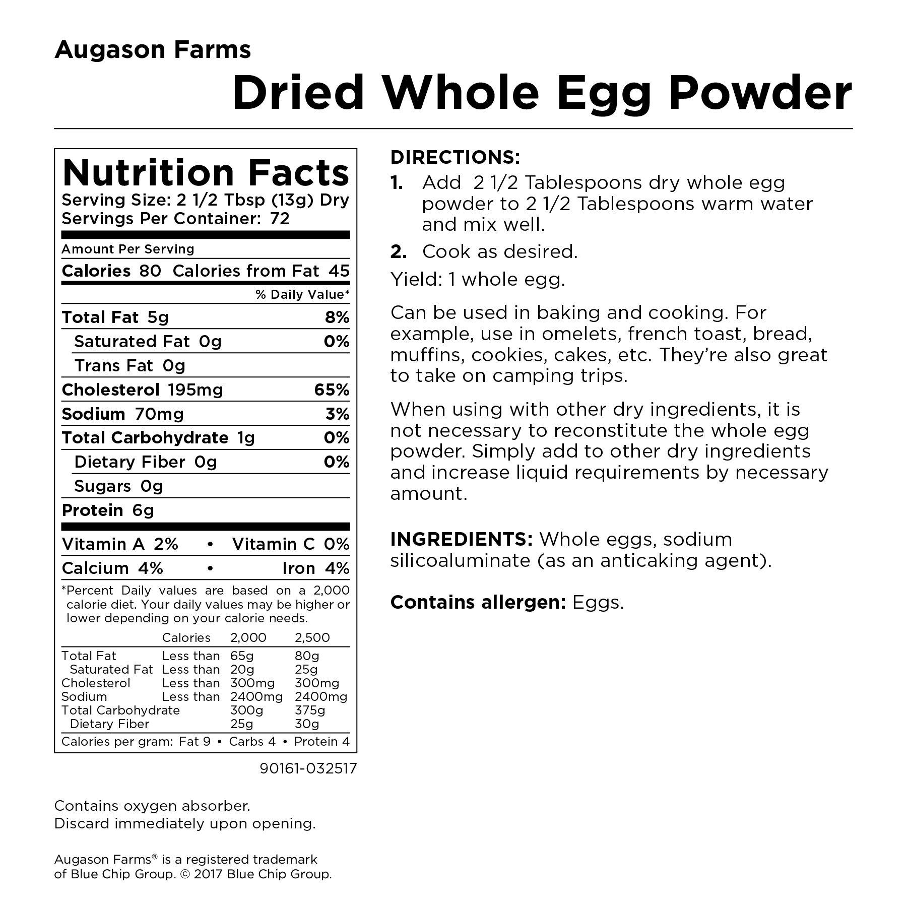 Augason Farms Dried Whole Egg Product 2 lbs 1 oz No. 10 Can by Augason Farms (Image #5)