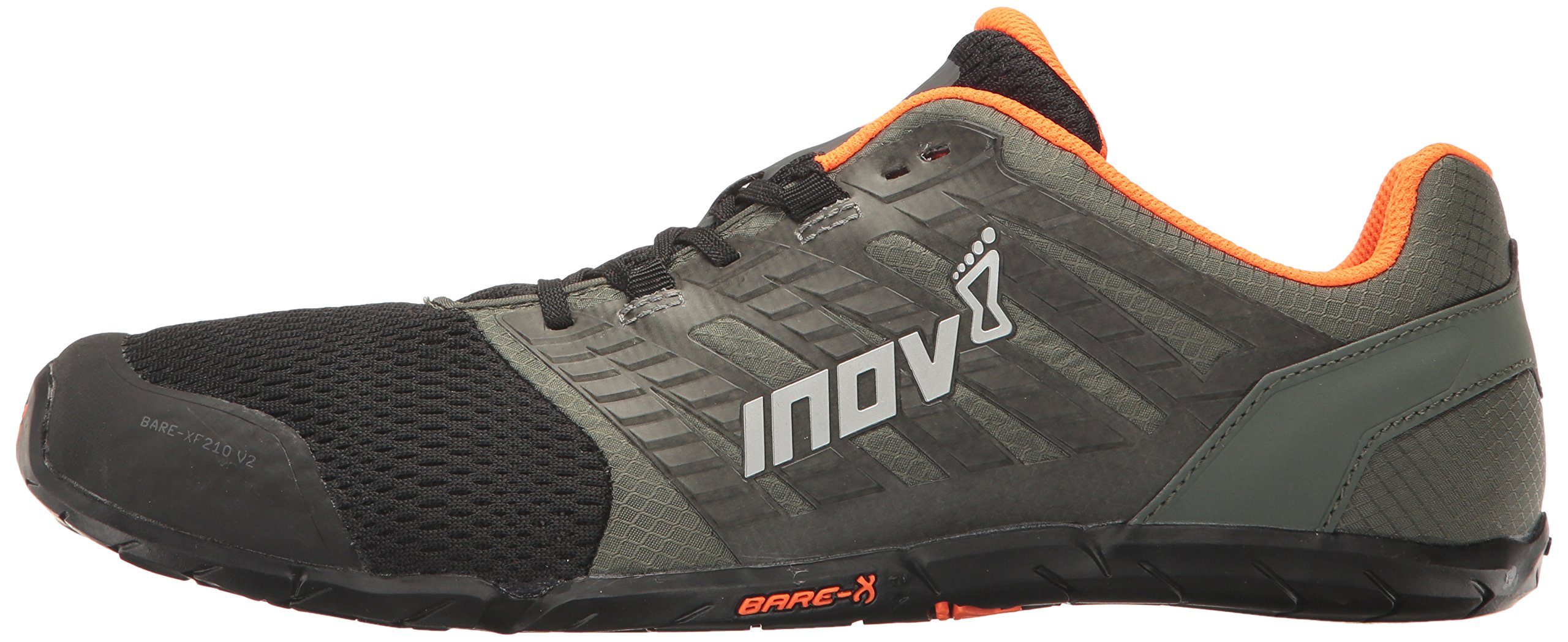 Inov-8 Men's Bare-XF 210 v2 (M) Cross Trainer Grey/Black/Orange 9 D US by Inov-8 (Image #5)
