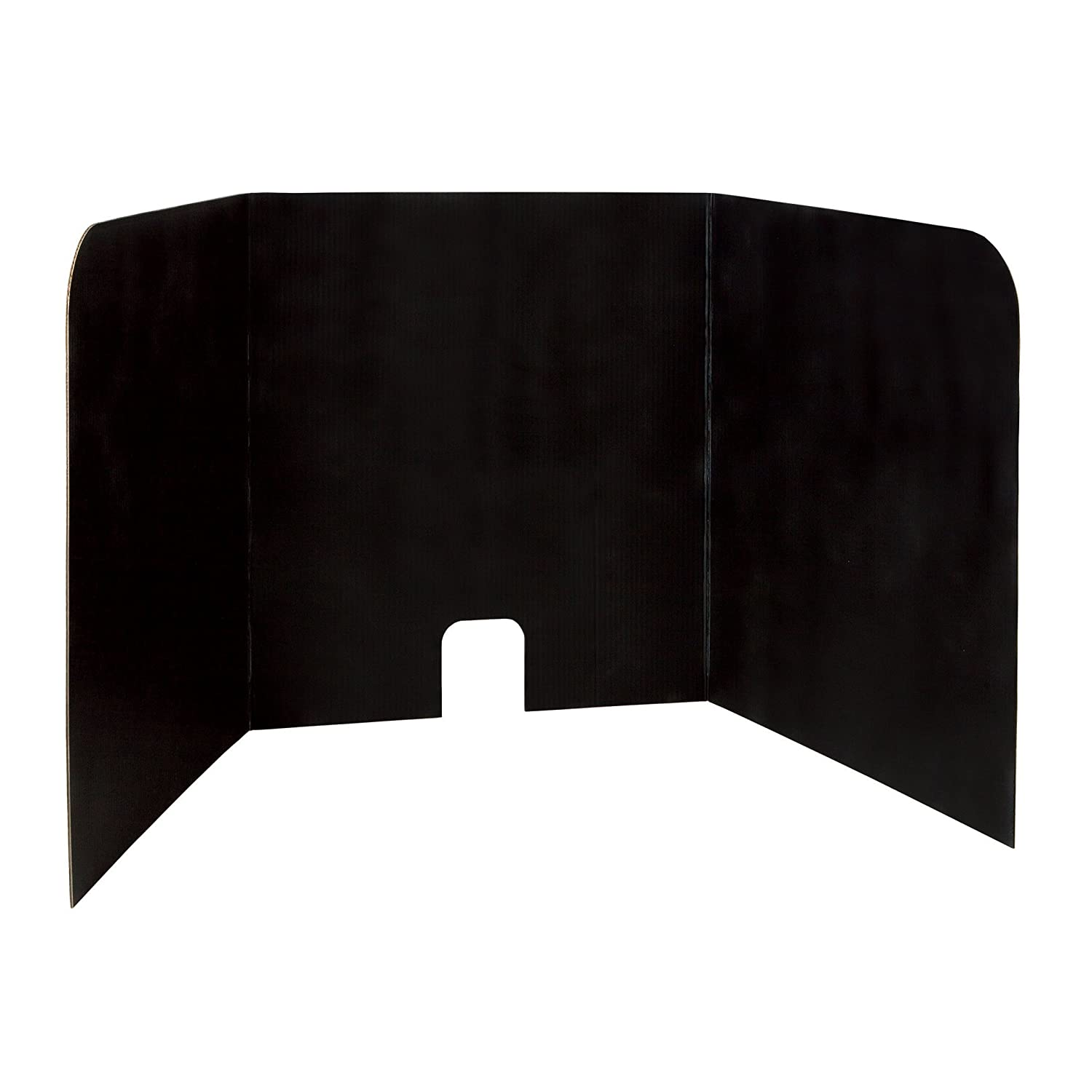 """Pacon PAC3795 Computer Lab Privacy Board, 22""""H x 22""""W x 20""""D, Black, Pack of 4"""