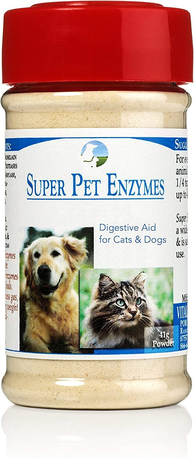 Vitality Science All Natural Super Pet Enzymes for Cats | High Potent Plant Based Complete Spectrum of Enzymes | Promotes Digestion | Nutrient Absorption | Supports Gastro Intestinal Disorder