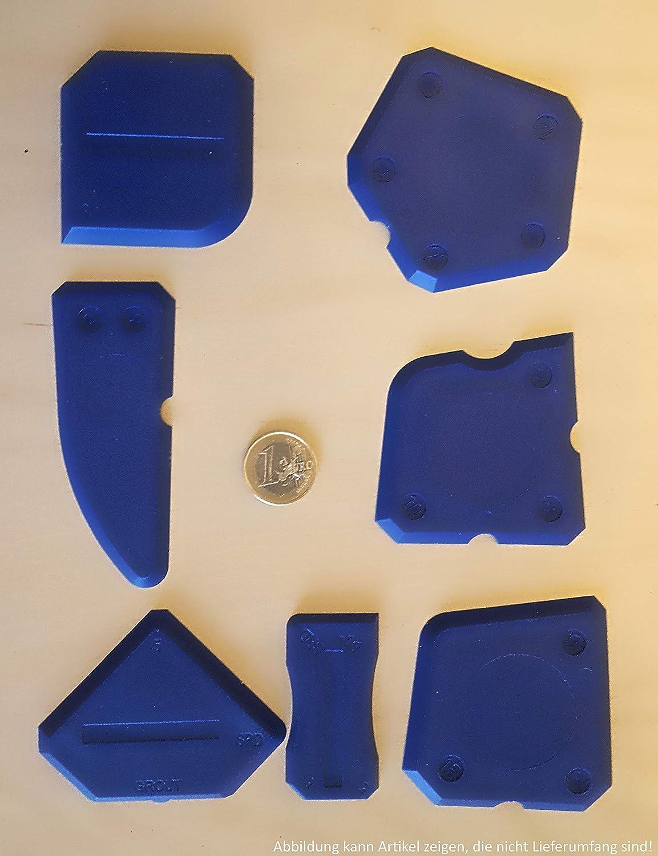 Acryl und weitere Dichtstoffe 15-teilig f/ür Silikon Fugen-Gestaltungs-Set