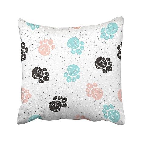 emvency manta decorativa Funda de almohada cuadrado tamaño 16 x 16 Inches Negro Azul Rosa Patrón