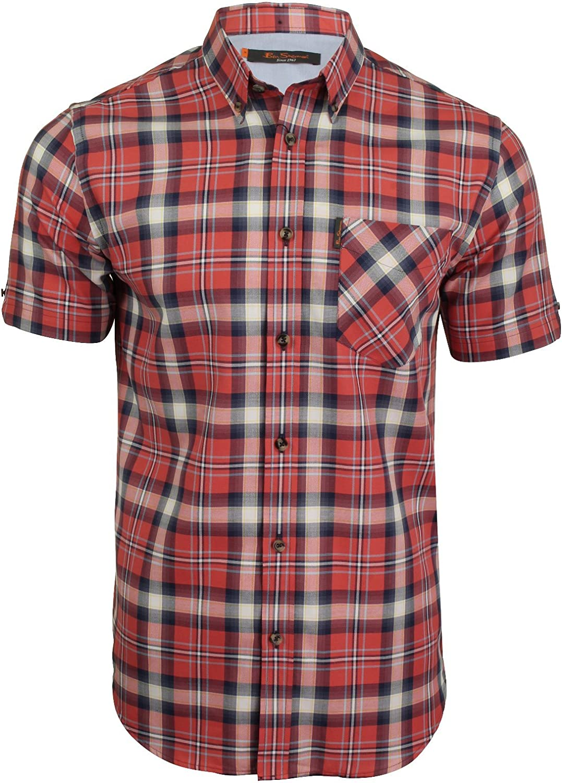 Ben Sherman Oxford Camisa de manga corta para hombre: Amazon ...