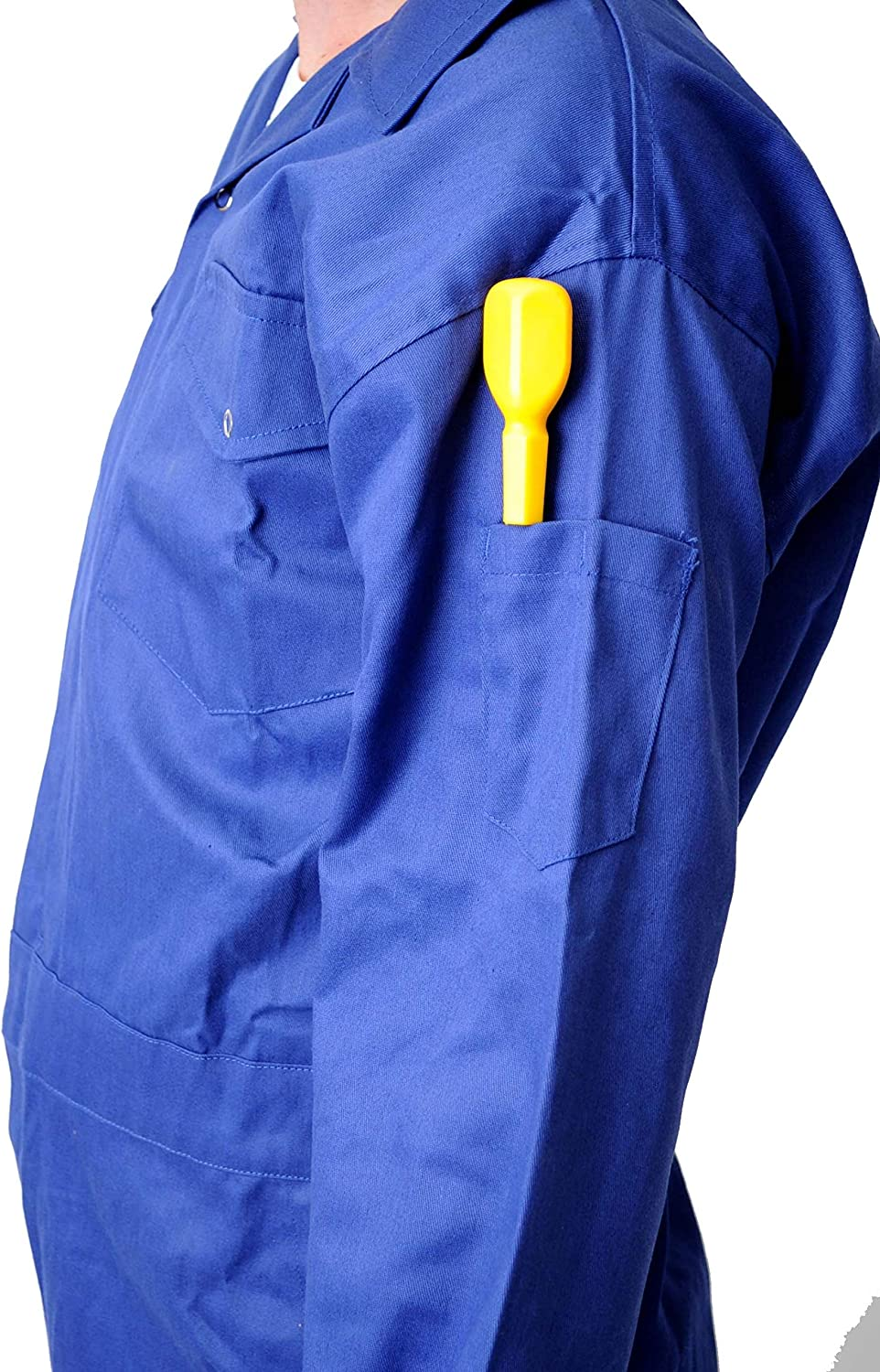 Road Master Mens Poly Cotton Coverall Overalls Painters Suit Decorators Mechanic Workwear