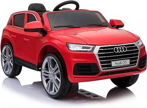 Comprar HOMCOM Coche Eléctrico para Niño 3-8 Años Audi Q5 con Mando a Distancia MP3 Luces y Sonidos Apertura de Puerta 116x75x56cm Carga 30kg