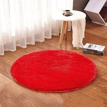 Linyingdian 100cm (3,2 Feet) Runde Teppiche Super Weich Wohnzimmer  Schlafzimmer Home