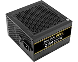 Antec NeoECO Gold Zen Series NE500G Zen 500W ATX12V 2.4 80 Plus Gold Certified Non-Modular Active PFC Power Supply