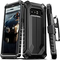 ELV Note8-Arm.blet-blk/blkIN Armour Protective with Belt Clip Case Cover for Samsung Galaxy Note 8 (Black)