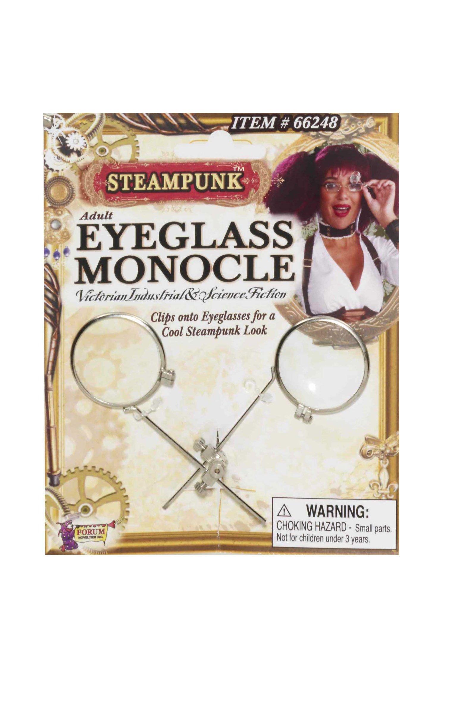 Steampunk Eyeglass Monocle Clip Costume Accessory
