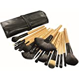 Puna Store® 24 Piece Makeup Brush Set with Storage Pouch - Bamboo