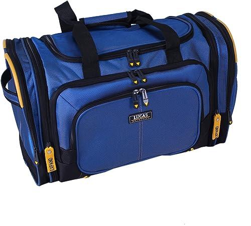Lucas Luggage Accelerator 20 Soft Expandable Soft Duffel Blue