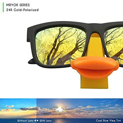 3ae2ef9cebf Mryok Polarized Replacement Lenses for Electric Knoxville XL - 24K Gold   Amazon.ca  Clothing   Accessories