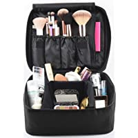 Eliza Huntley Travel Makeup Organizer - Make Up Case & Toiletry Travel Bag for Women - Cosmetic Case - Black Makeup Suitcase