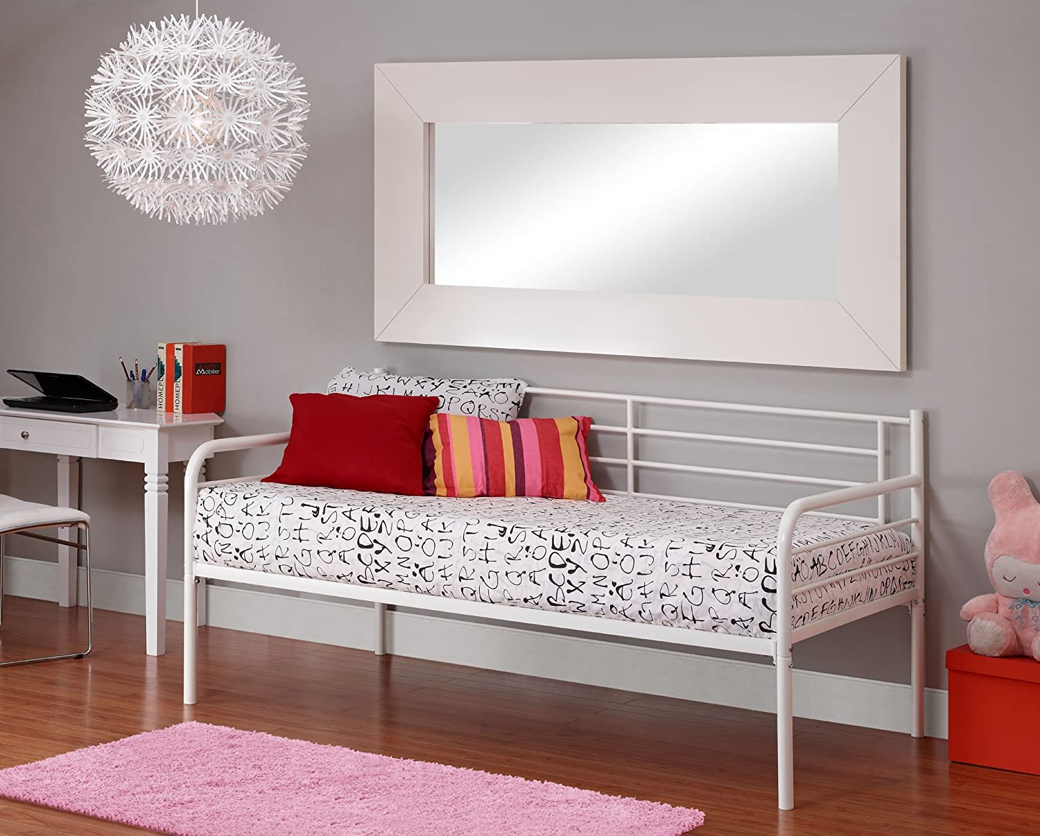 Amazon.com: DHP Metal Frame Daybed with Stylish, Contemporary ...