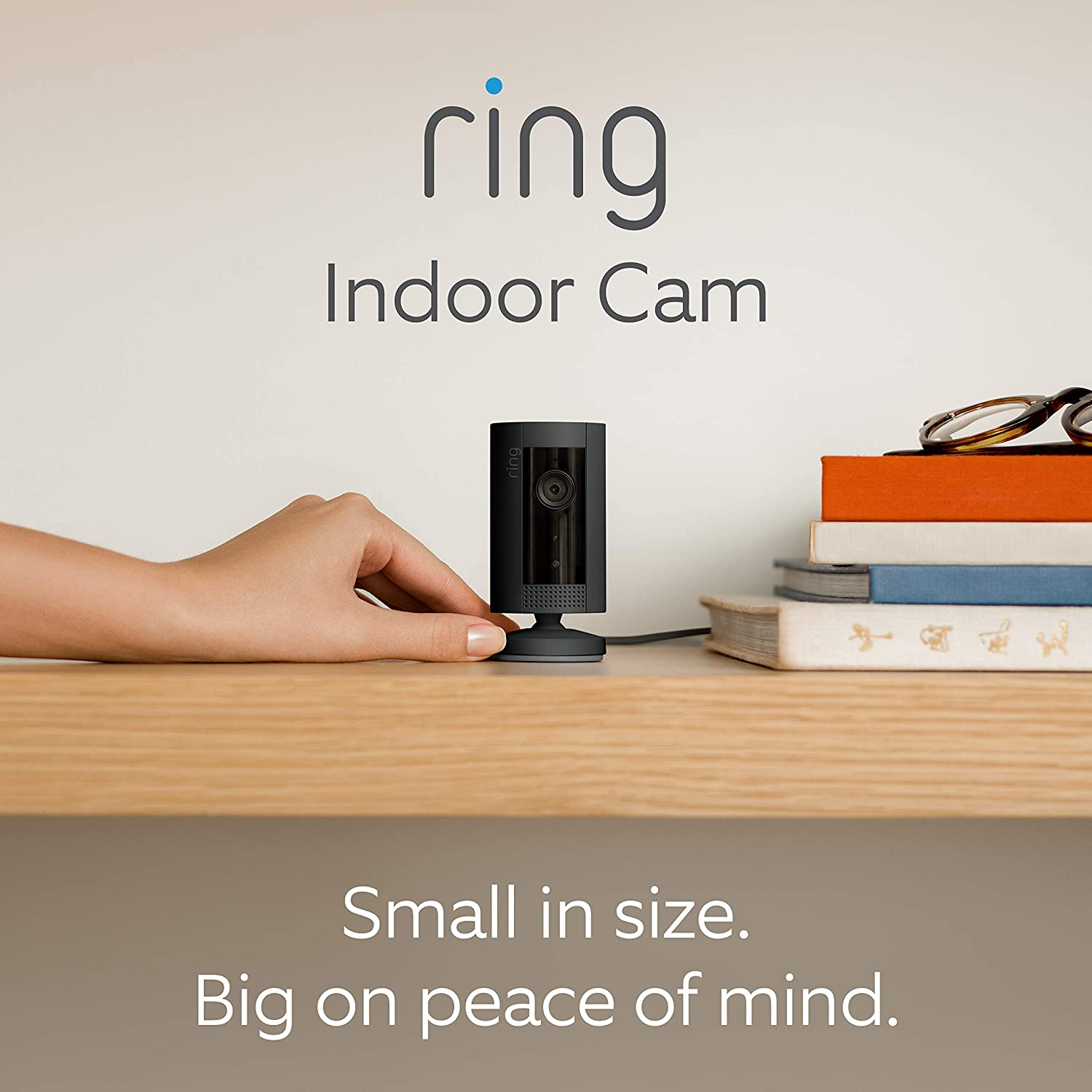 Compact Plug-In HD security camera with Two-Way Talk Works with Alexa With 30-day free trial of Ring Protect Plan Black Introducing Ring Indoor Cam