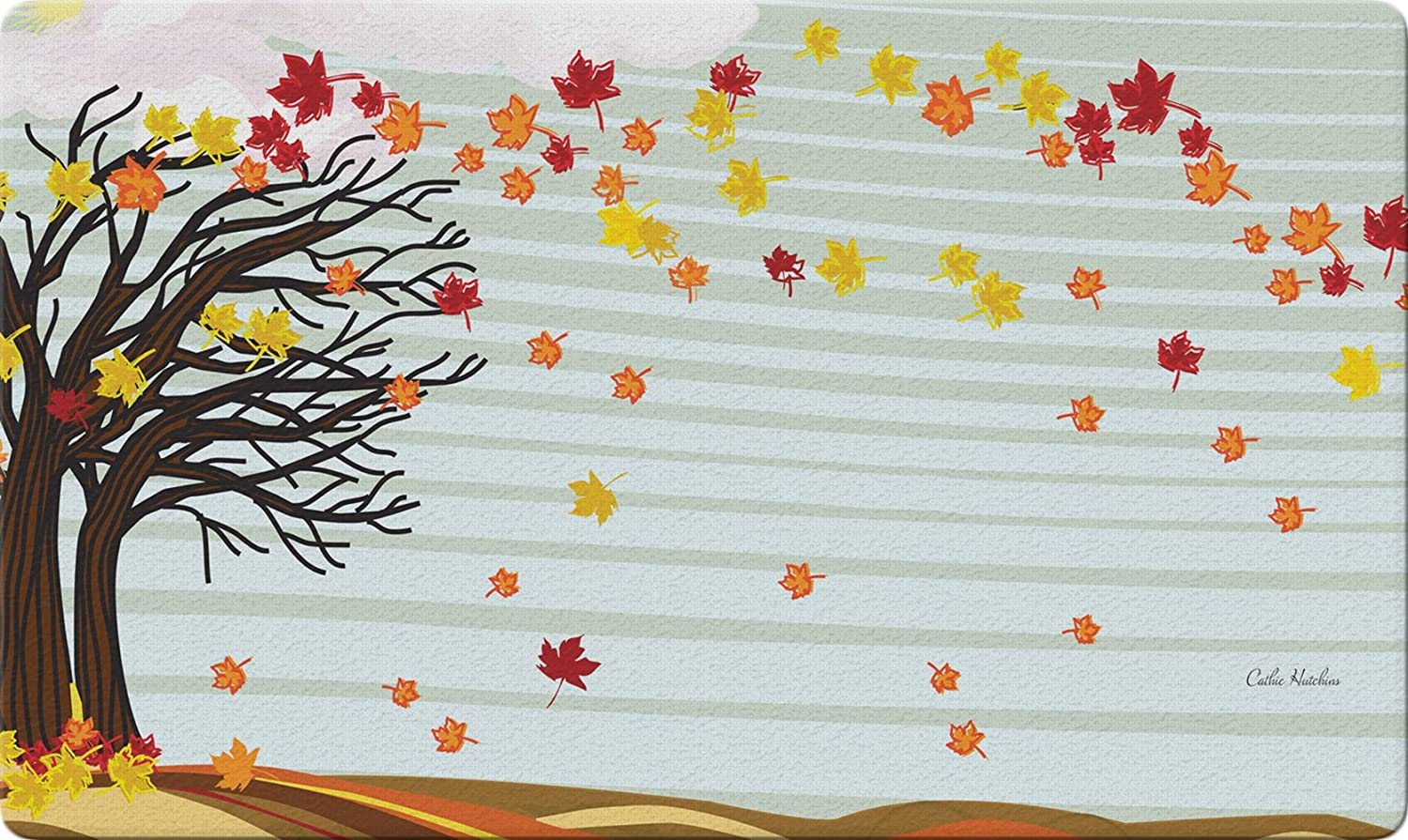 Toland Home Garden Autumn Winds 18 x 30 Inch Decorative Fall Leaf Floor Mat Blowing Leaves Doormat