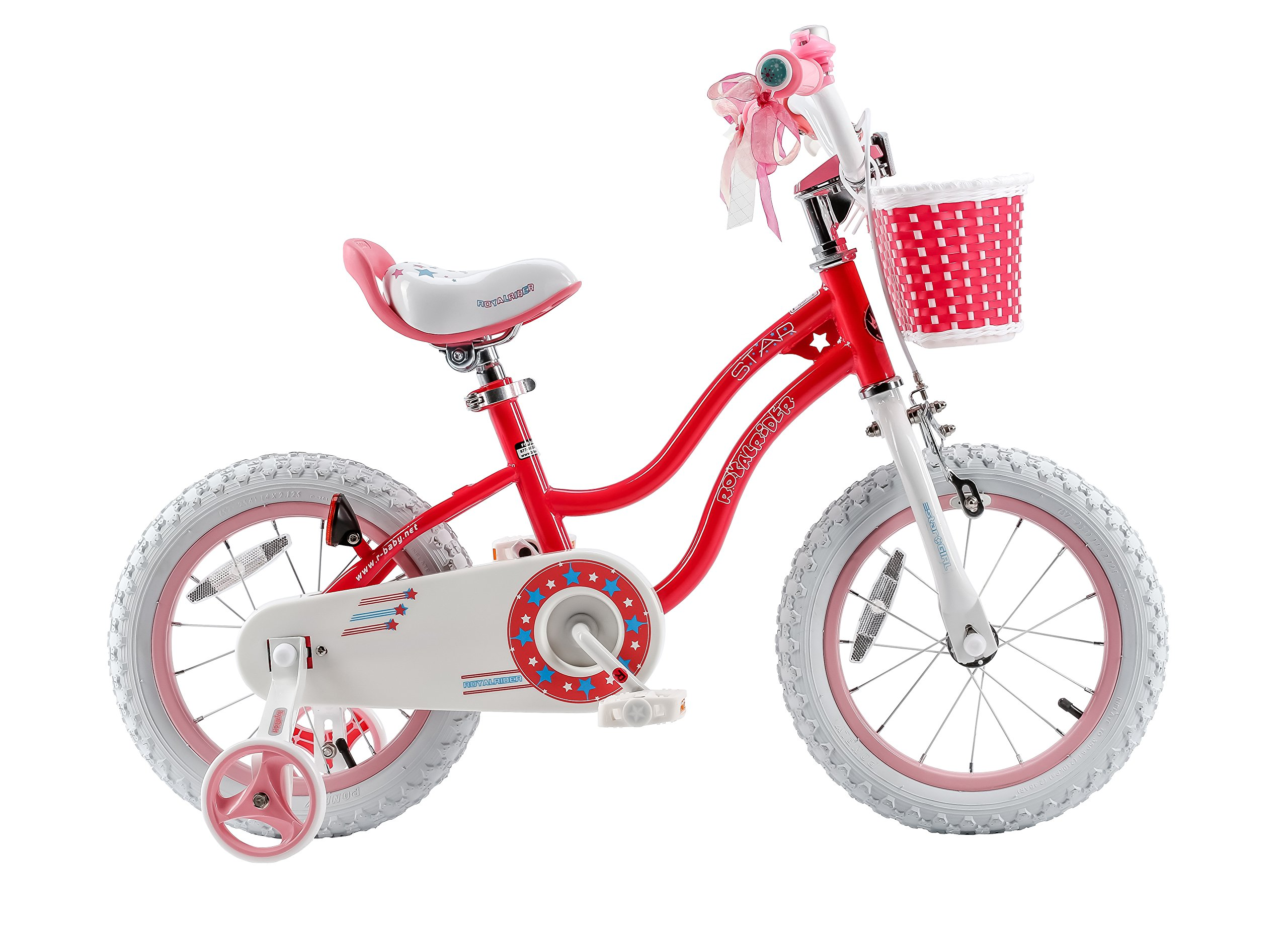 Royalbaby Stargirl Girl's Bike with Training Wheels and Basket, Perfect Gift for Kids. 16 Inch Wheels, Pink