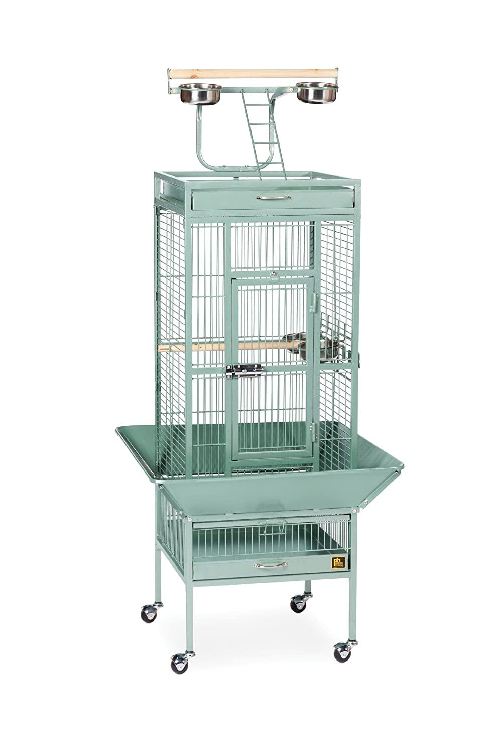 18-Inch by 18-Inch by 57-Inch Prevue Pet Products Wrought Iron Select Bird Cage, 18-Inch by 18-Inch by 57-Inch, Cobalt bluee