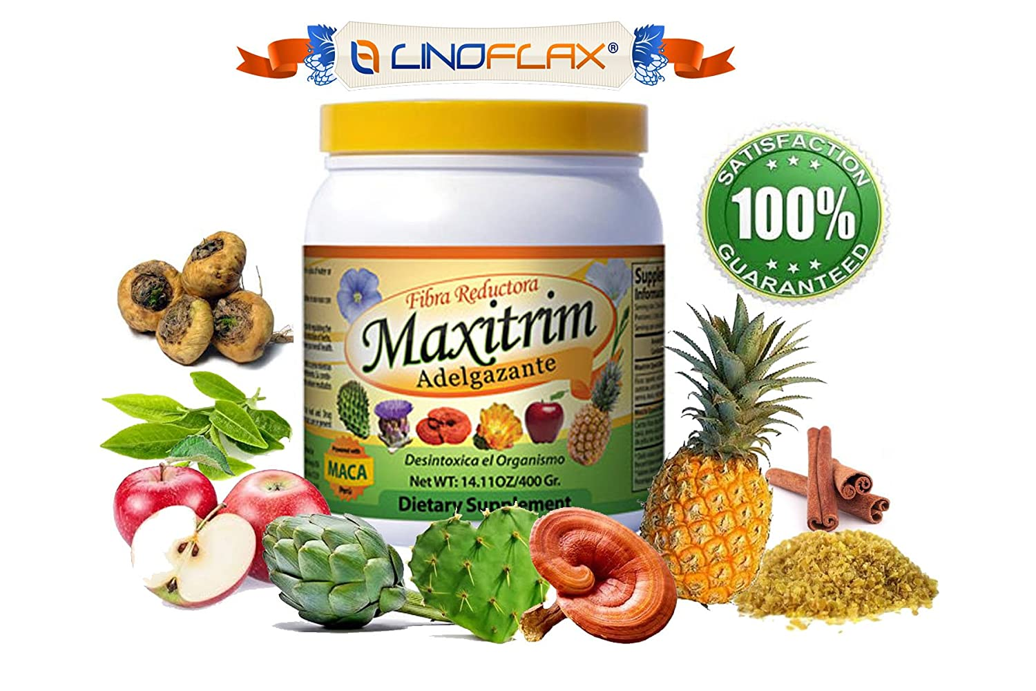Multi Weight Loss fiber Mix Maxitrim Adelgazante Linoflax