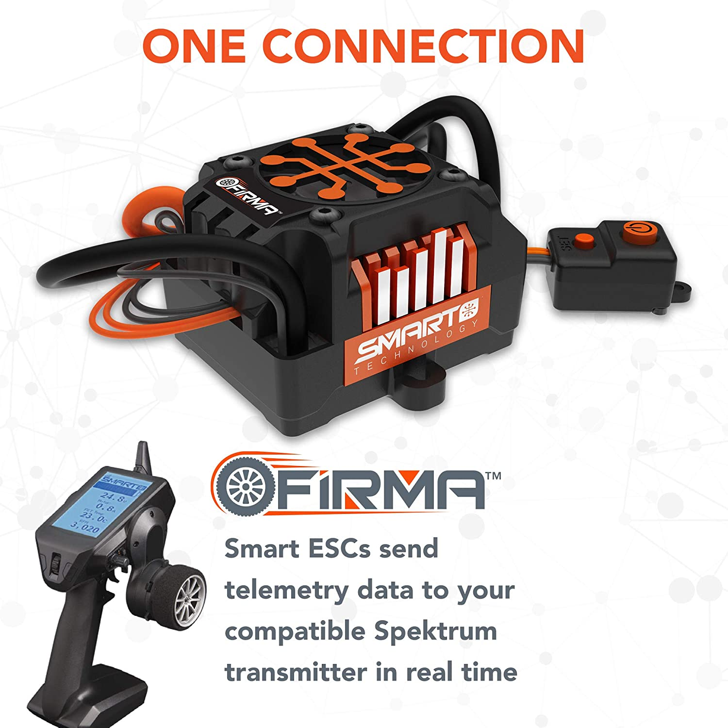 Spektrum Firma 40A Brushed Smart 2-in-1 ESC and Receiver SPMXSE1040RX