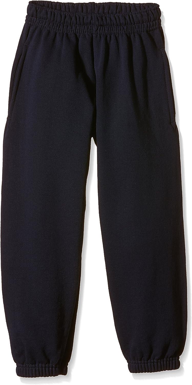7-8 Fruit of the Loom Childrens//Kids Unisex Jog Pants//Jogging Bottoms Black