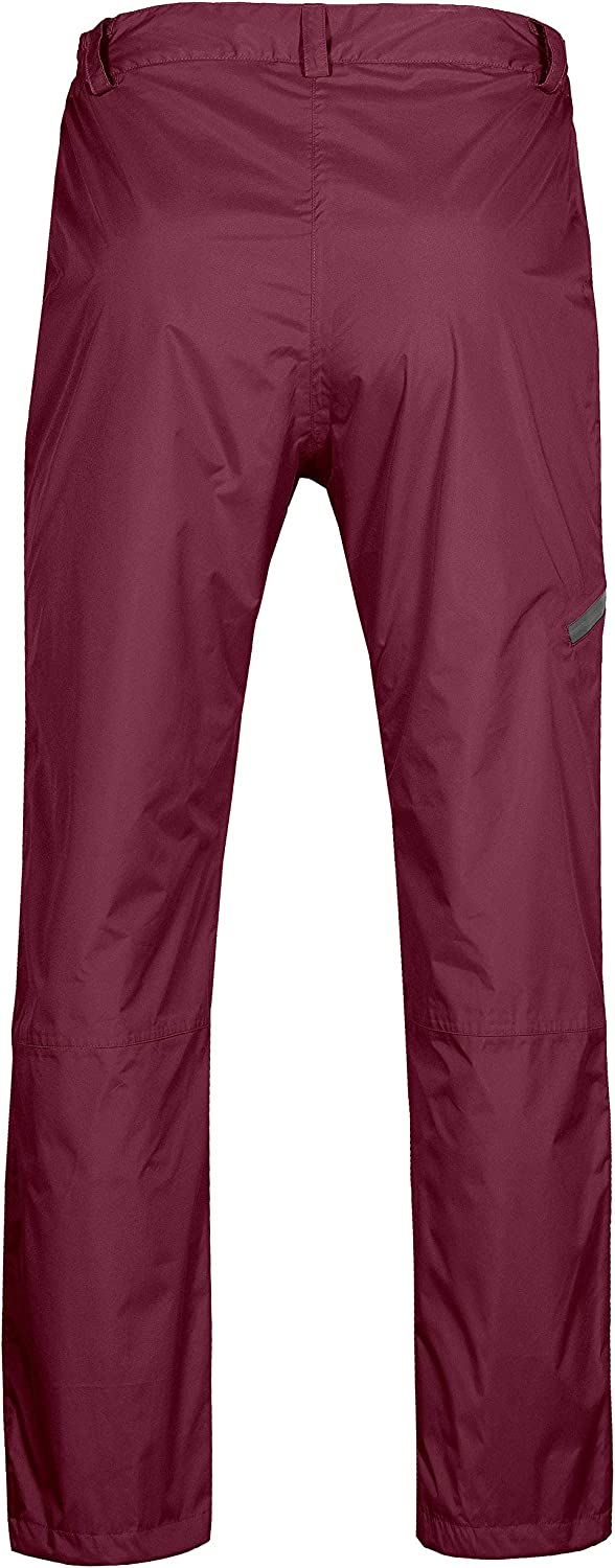 Little Donkey Andy Women/'s Lightweight Waterproof Breathable Rain Pant Red Size XL