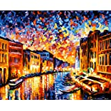 Paint by Numbers-DIY Digital Canvas Oil Painting Adults Kids Paint by Number Kits Home Decorations- Colorful World 16…